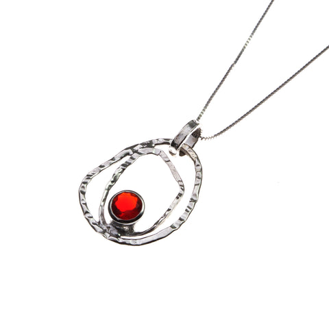 With Red Zirconia  Stone