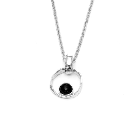 Black lava pearl Necklaces