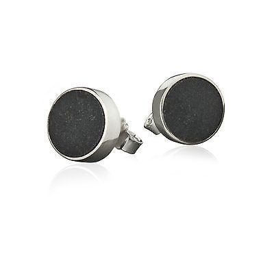 Sanded Black Lava Stone Earrings