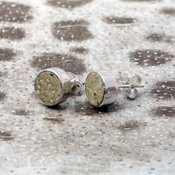 Earrings with natural fish skin