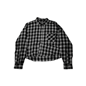 Cropped Flannel (Black)