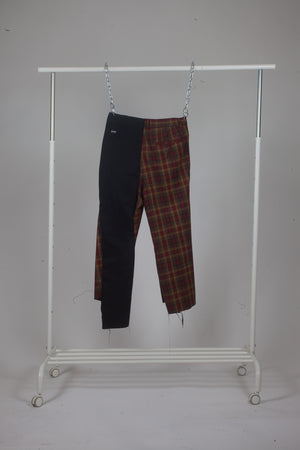 FFF Slacks (red plaid and black)