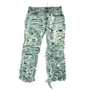 Double Layer Trashed Jeans