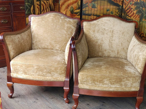 Antique Lounge Chairs Art Nouveau