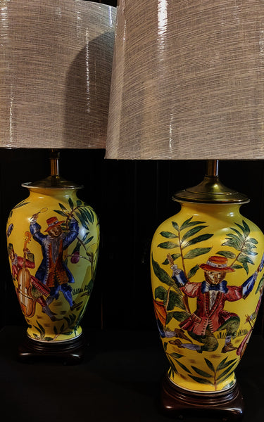 PAIR Monkey Theme Table Lamps