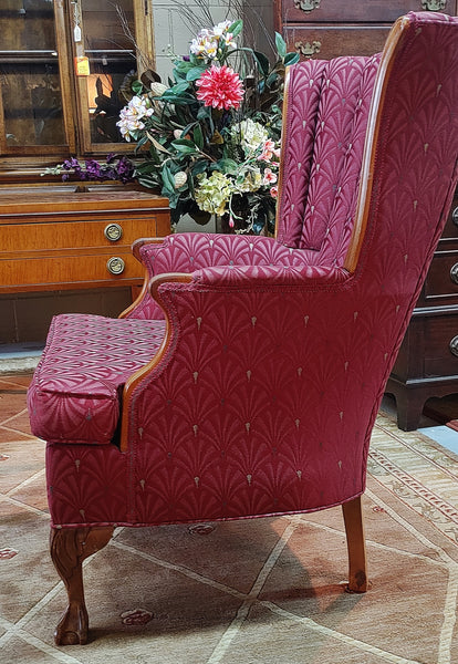 Vintage Channel Clam Back Arm Chair
