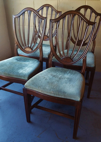 Set of 6 Vintage Mahogany Shield Back Chairs