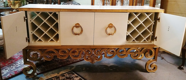 Server Sideboard Console Transistional Hooker Furniture