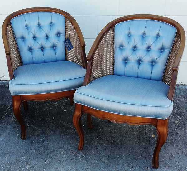 PAIR Mid-Century Barrel Chairs