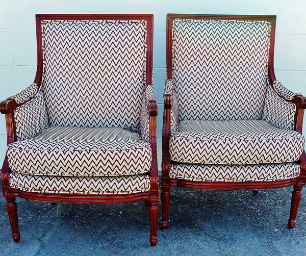 PAIR Carved French Arm Chairs