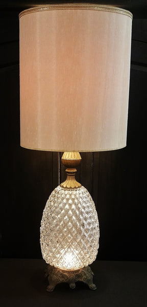 Vintage Glass Pineapple Lamp