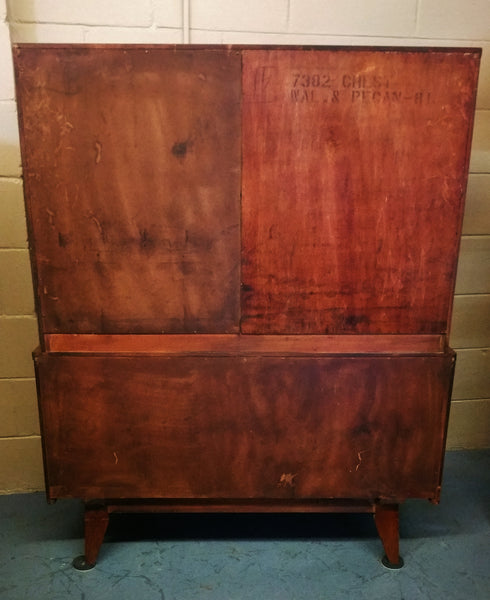"Kent Coffey ""Insignia"" Mid-Century High Boy Chest on Chest"