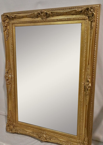 Ornate Gold French-Style Beveled Mirror