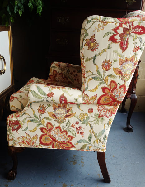 Spring Floral Wing Back Chair ~ 2 Available