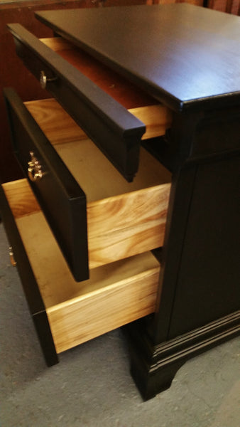 Upcycled Black 3-Drawer Night Stands