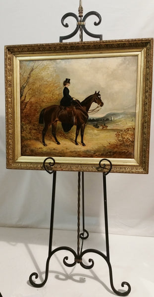 Equine Oil Painting Charles Bilger Spalding Circa 1870