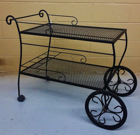Vintage Iron Serving Bar Tea Cart