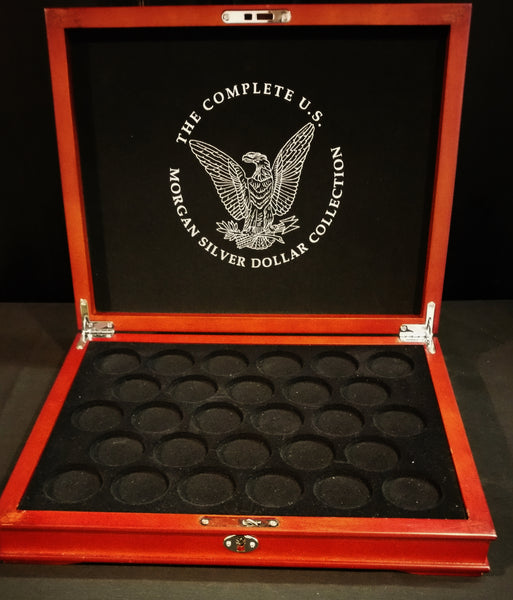 The Complete  US Morgan Silver Dollar Collection Coin Box
