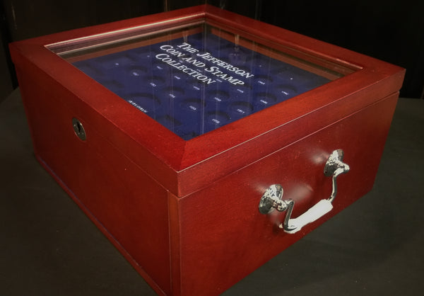 The Jefferson Stamp and Coin Collection Box