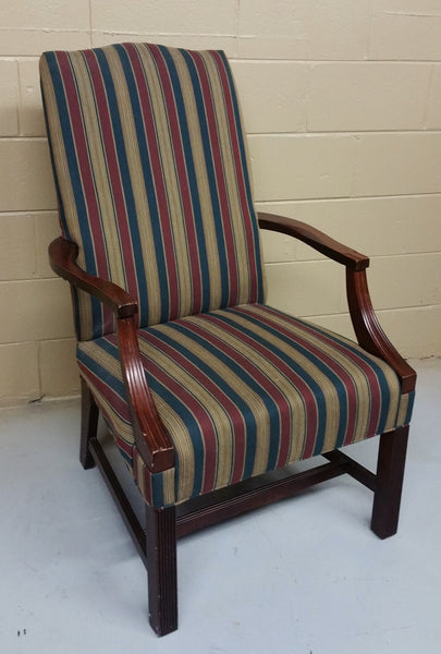 Traditional Upholstered Open Arm Chair