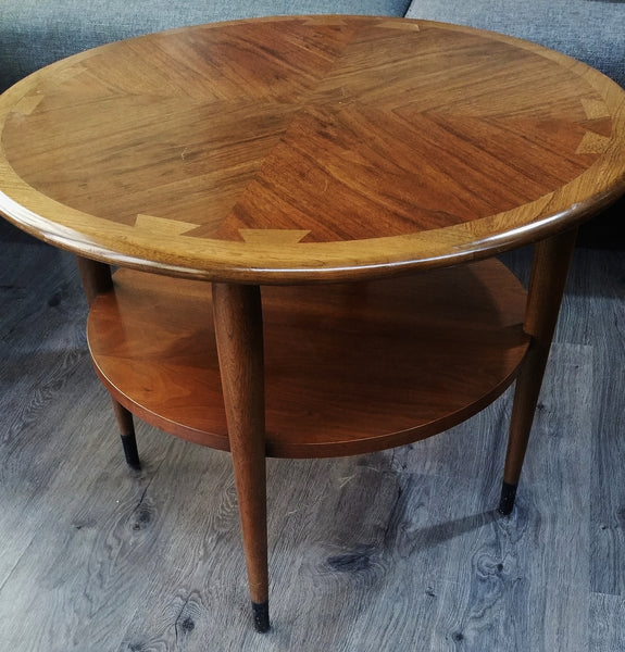 Mid-Century Modern Wood 2-Tier Coffee Table by Lane