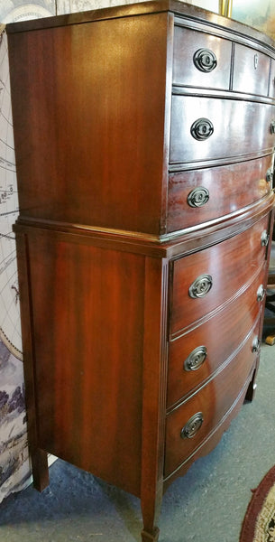 Vintage Mahogany Bow Front Chest Dixie Furniture