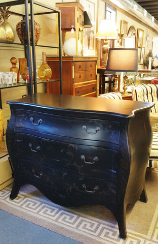 French Style Black Bombe Curved Chest