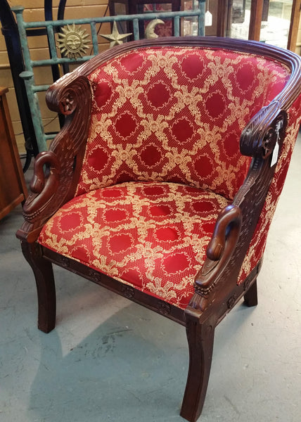 Vintage Swan Barrel Arm Chair