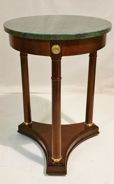 French Empire Style Marble Top Side Table Bombay Company