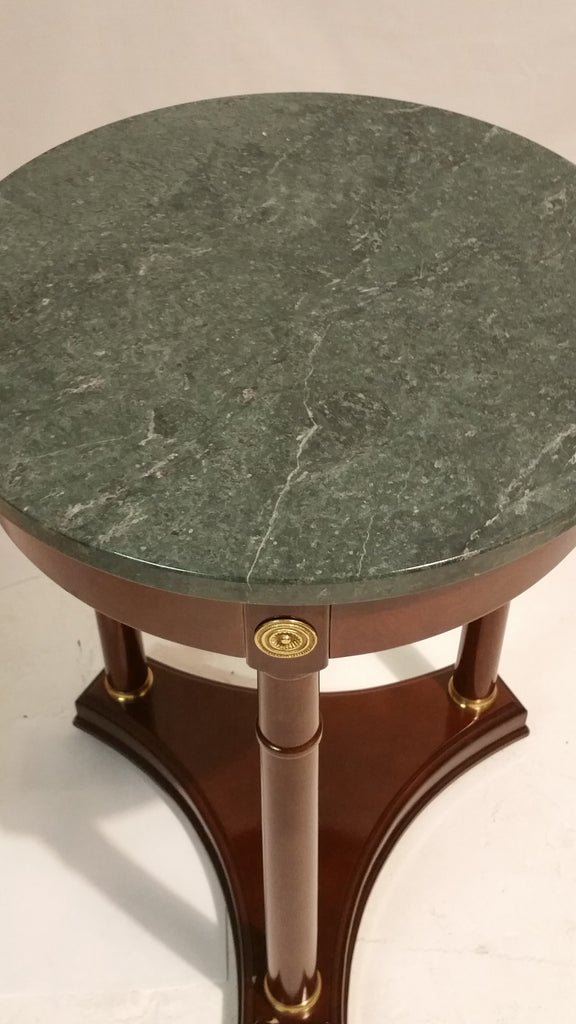 French Empire Style Marble Top Side Table Bombay Company Attic Fanatic