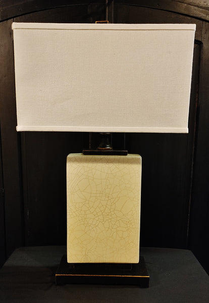 Modern Asian Flask Lamp Cream Crackle