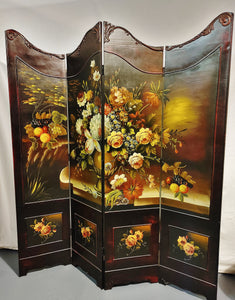 French Style Hand-painted Dressing Screen Room Divider