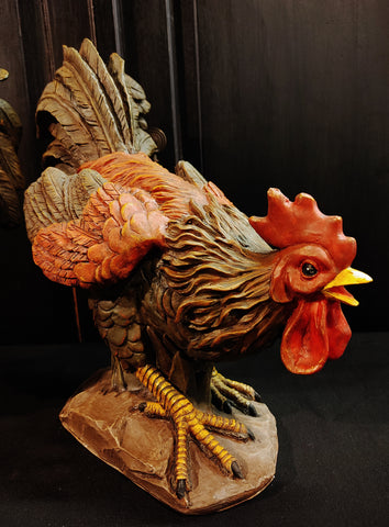 Rooster Figurine Statue Home Decor