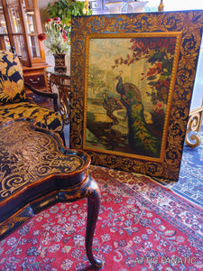 Chinoiserie Peacock Painting Wall Art