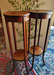 Mahogany Plant Stand Pedestal