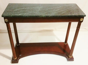 French Empire Style Marble Top Console Table Bombay Company