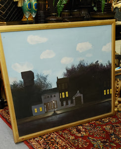 Original Signed Evening Streetscape Oil Painting