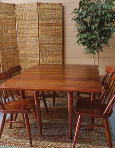 Vintage Willett Furniture Dining Table and Chairs Cherry Wood