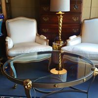 Maitlin-Smith Transistional Iron Glass Cocktail Coffee Table