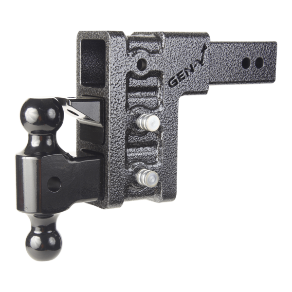 GH 623 2.5″ Adjustable Drop Hitch w/ Ball Mount & Pintle | 6″ Drop