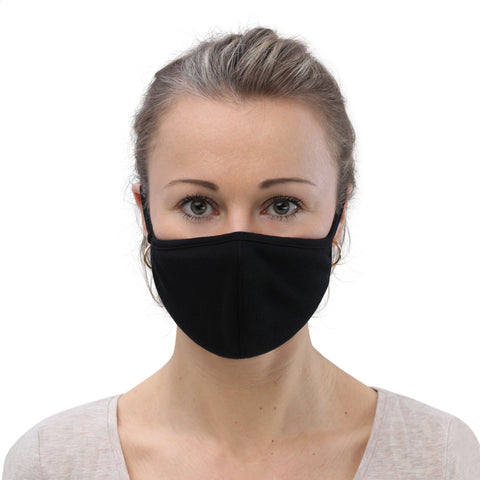 Black womens face mask covering