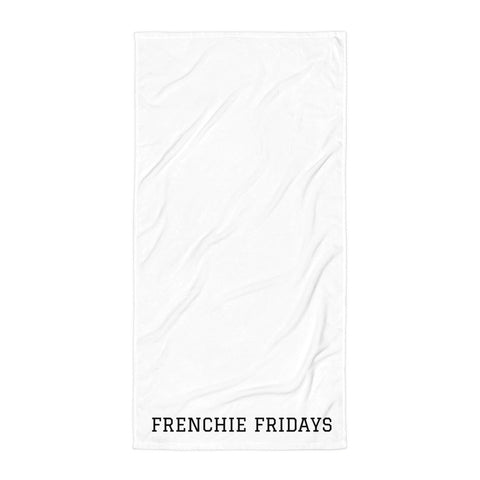 FRENCHIE FRIDAY Beach Towel