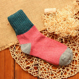 Womens Vintage Rabbit Wool Socks (5 pairs)