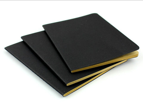 Black Kraft/White Paper Notebook (10 x 14cm)