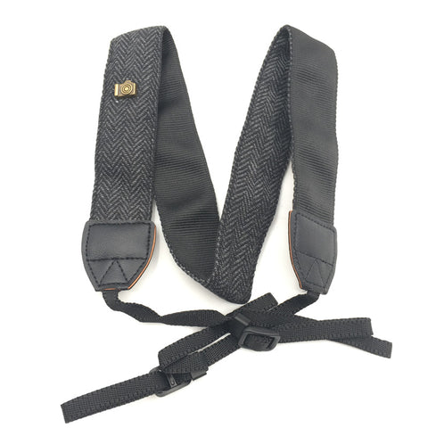 Adjustable Cotton Leather Camera Neck Strap