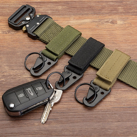 Men's canvas clasp Military keychain