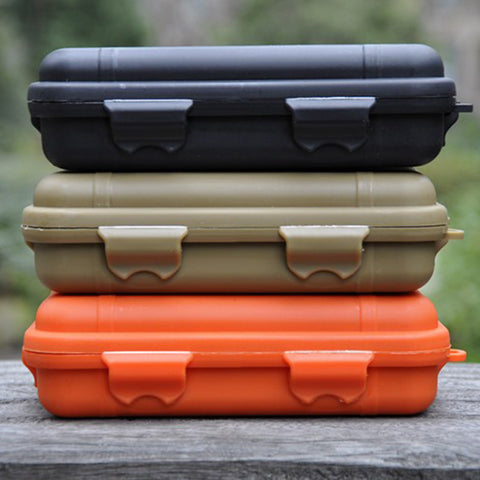 Waterproof and shockproof EDC field survival tool storage box