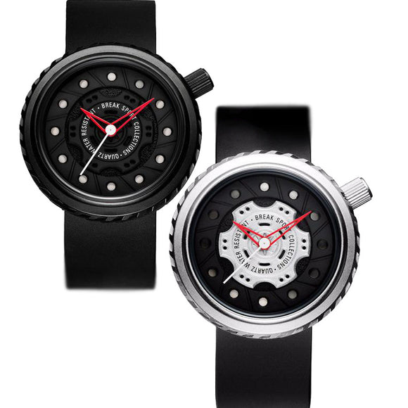 High Quality Men's Quartz Watch with Red Hands Japan Movement