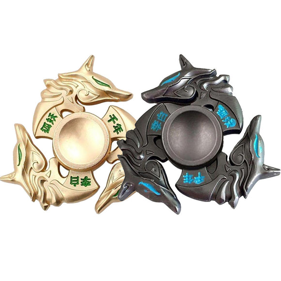 Chinese Metal Wild Wolf Hand spinner 2 Colours