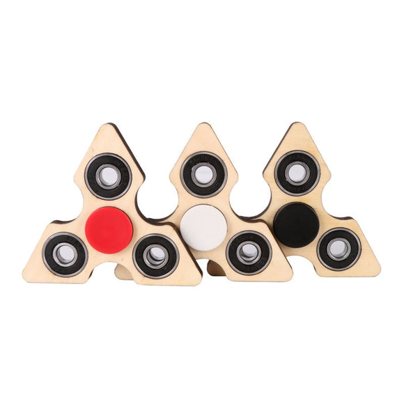 Triangle Wooden Fidget Hand Spinner 3 Colours